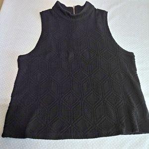 Anthropologie Postmark Black Shirt Size M